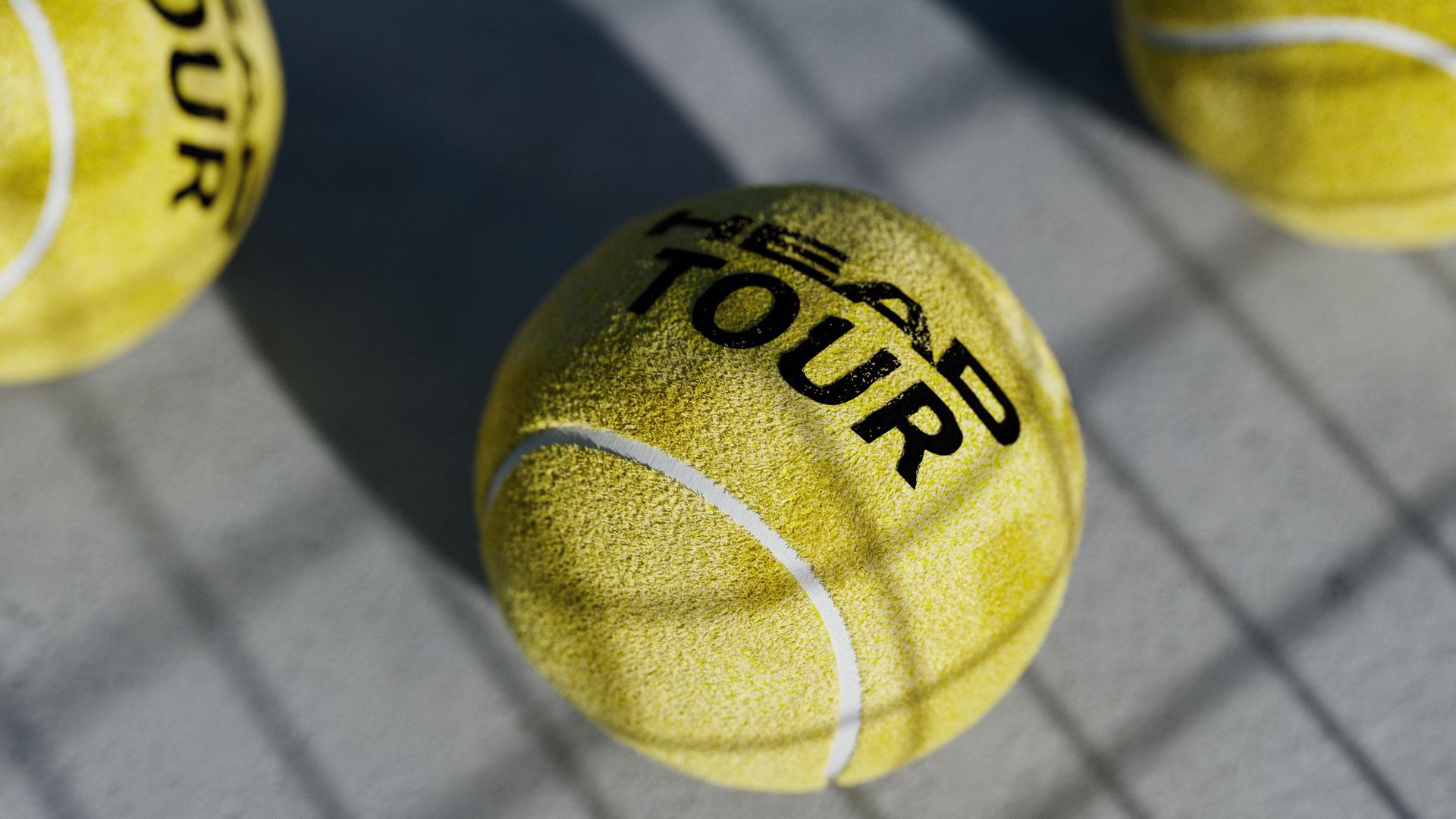 Tennisball, Schatten, Ball, Beton, Head